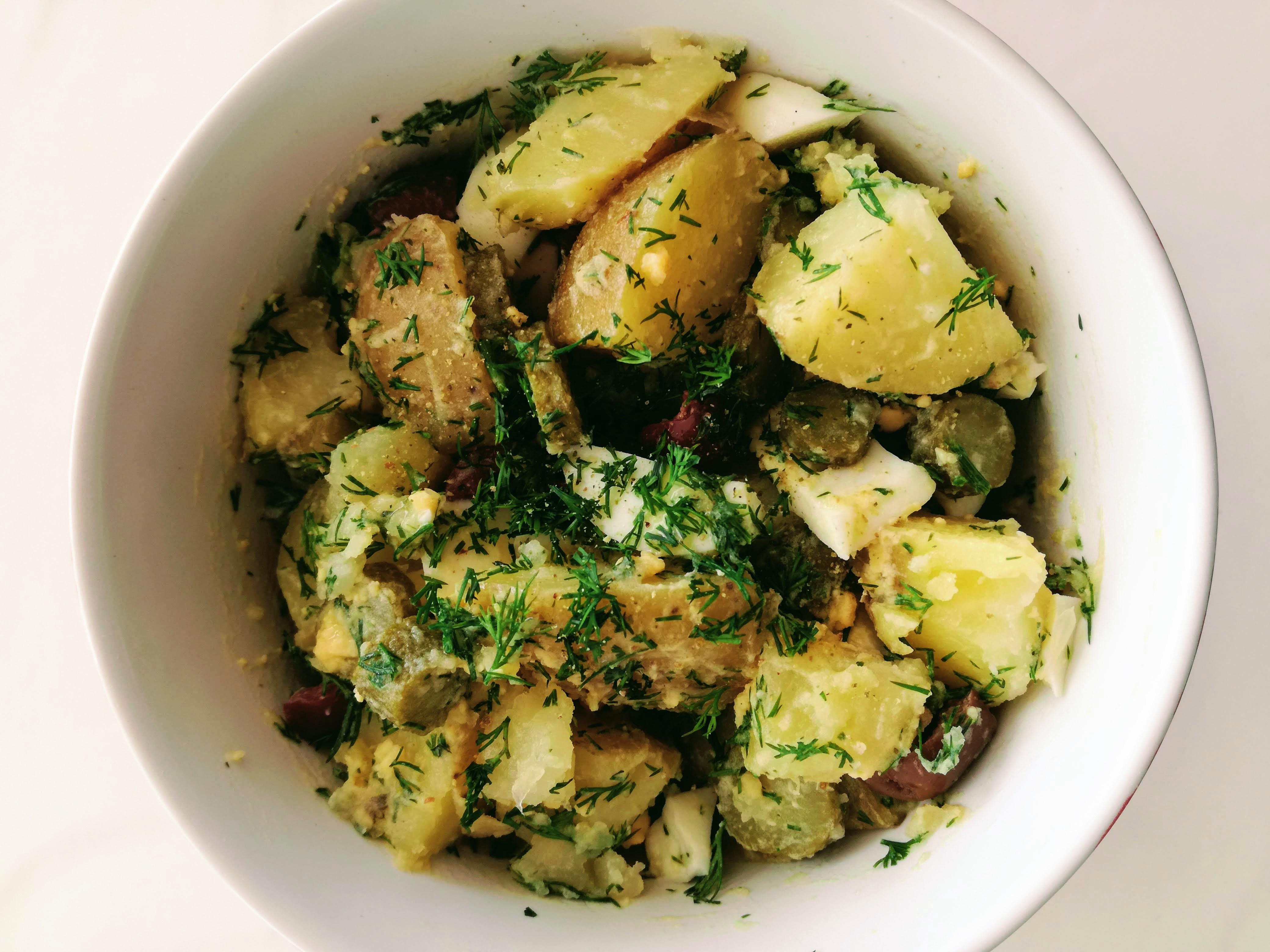 Salată low FODMAP de cartofi (salată orientală)