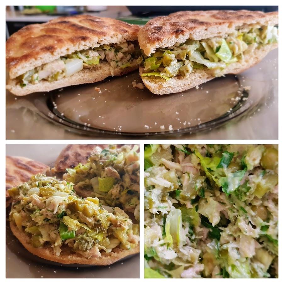 Salată low FODMAP de ton pentru sandvișuri